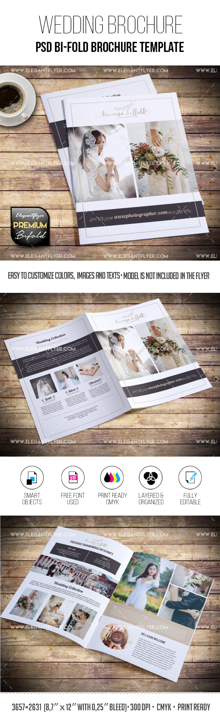 Wedding Photo – PSD Premium Bi-Fold Template