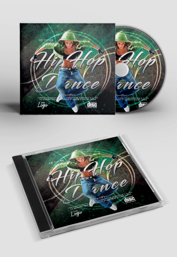 Hip Hop Dance – Premium CD Cover Template in PSD
