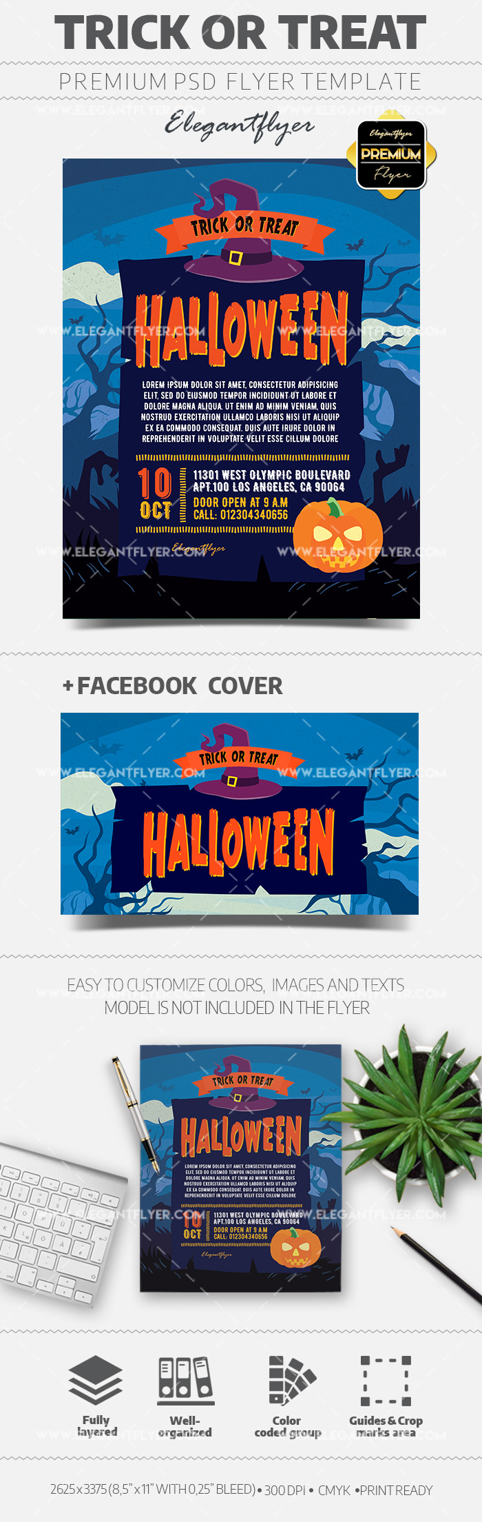 Trick or Treat – Flyer PSD Template