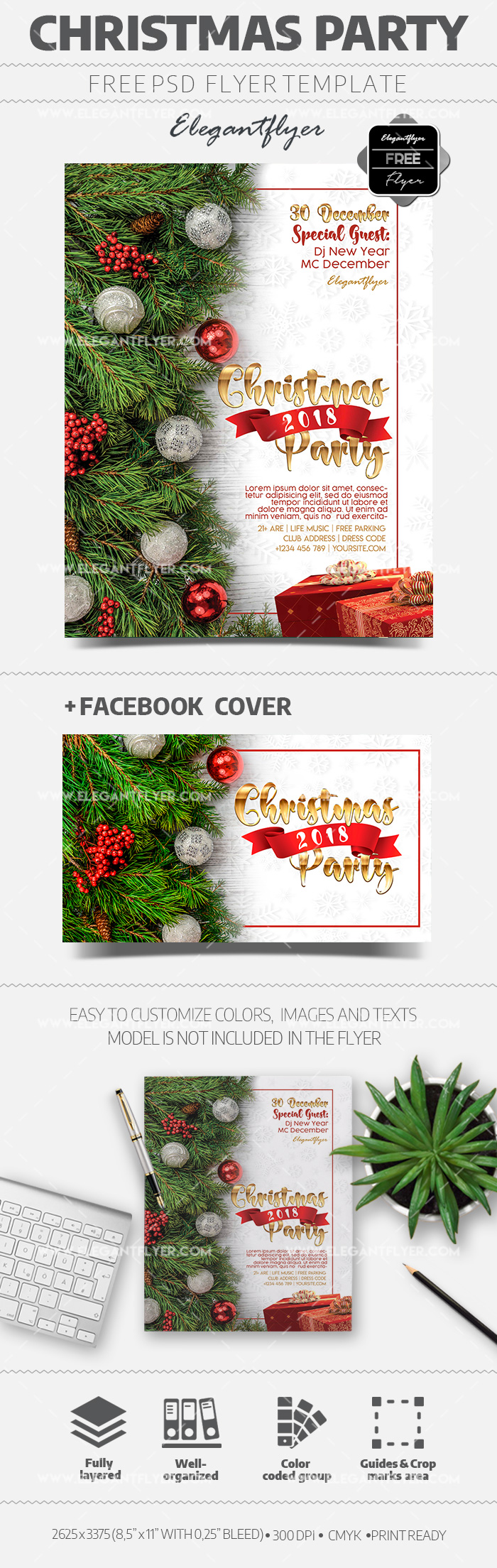 Christmas Party – Free Flyer in PSD