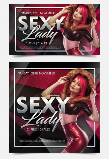 Sexy Lady – Facebook Event + Instagram template + YouTube