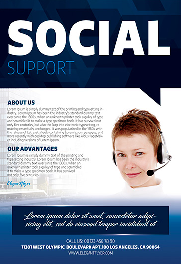 Social Support Service PSD Flyer Template