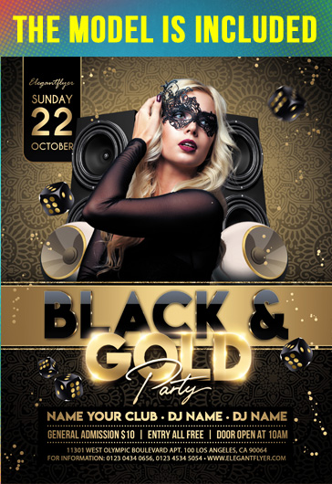 Luxury Gold Event – Flyer PSD Template + Instagram template