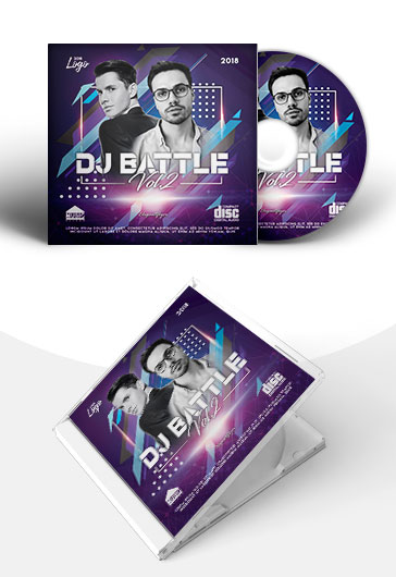DJ Battle – PSD Premium CD Cover Template