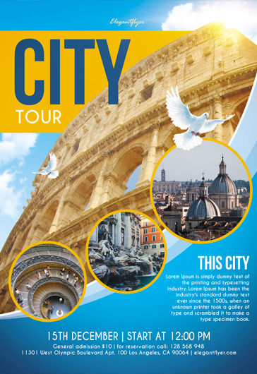 City Tour – Flyer PSD Template + Instagram template