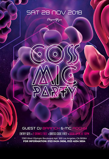 Grammy Awards Night Party – Flyer PSD Template