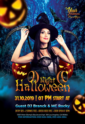 Halloween Night V05 – Flyer PSD Template