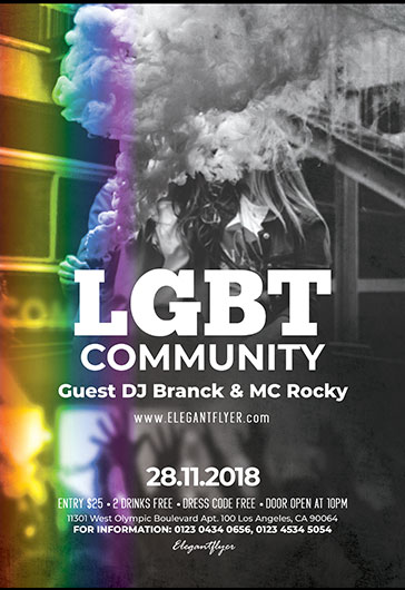 LGBT Community – Flyer PSD Template