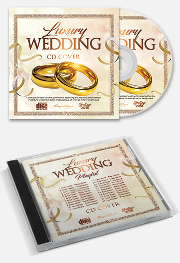 Luxury Wedding – Free CD / Mixtape Cover PSD