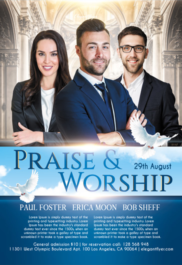 Praise Worship – Flyer PSD Template