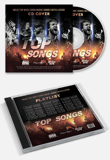 Top Songs – CD Cover Template