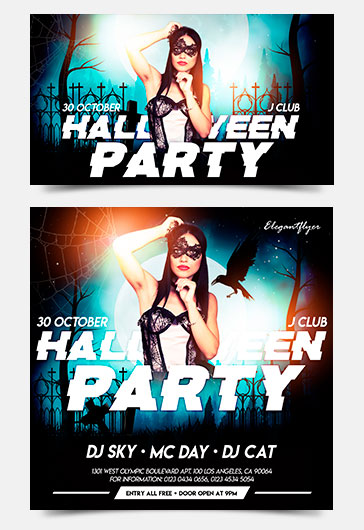 Halloween Party – Facebook Event + Instagram template