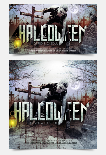Halloween – Facebook Event + Instagram template + Youtube Channel Banner