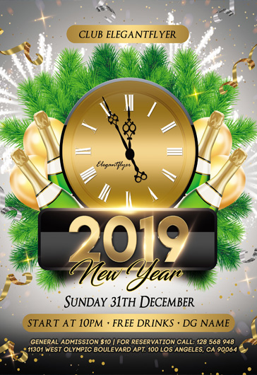 free new years eve flyer templates in psd by elegantflyer