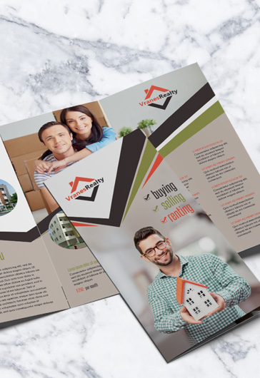 Real Estate – Free Tri-Fold Brochure PSD Template