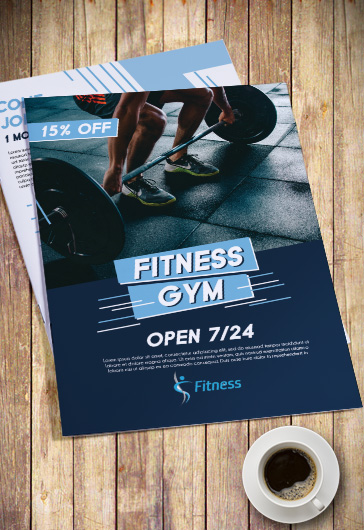 Tri-Fold PSD Template for Fitness Sport