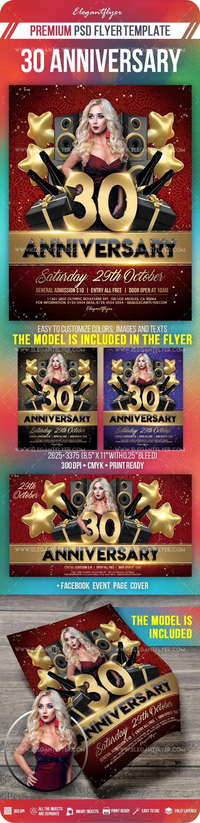 30 Anniversary – Flyer PSD Template