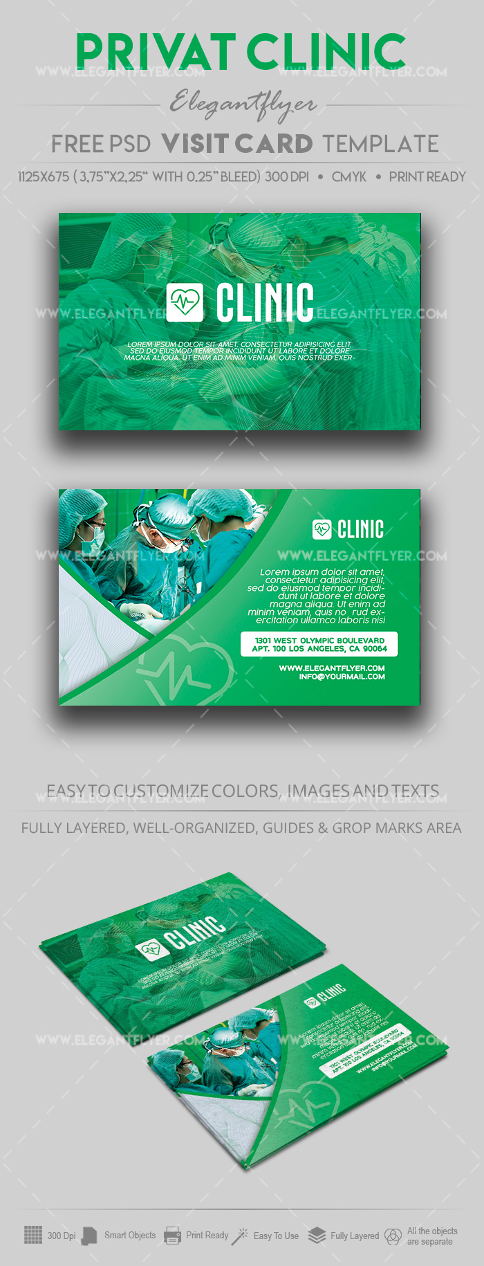 Private Clinic – Free PSD Business Card Template