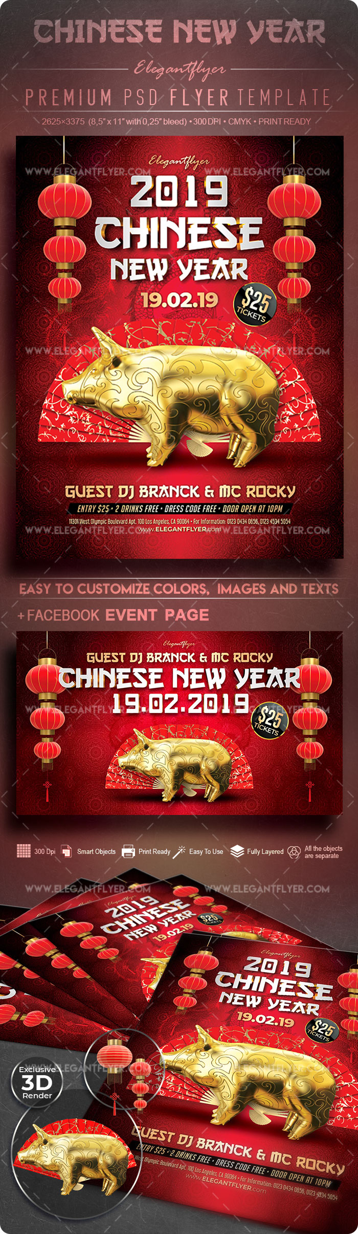 Chinese New Year – Flyer PSD Template