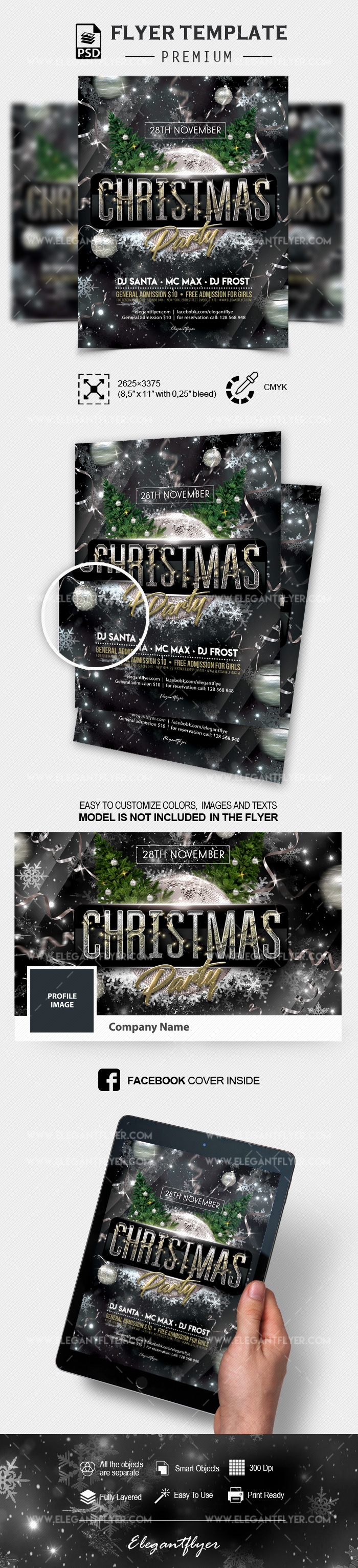 Christmas Party Invitation – PSD Flyer Template