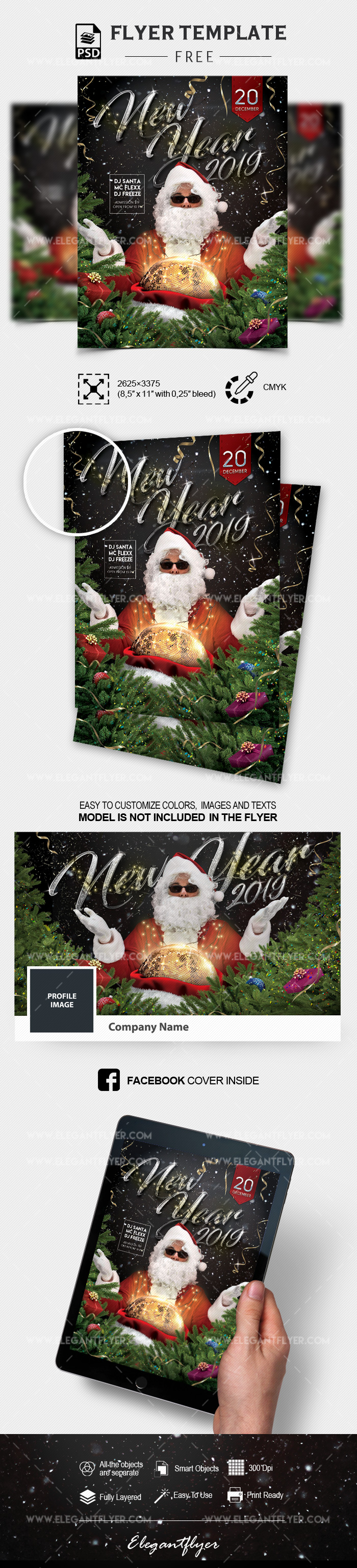 New Year's Eve – Free Flyer in PSD