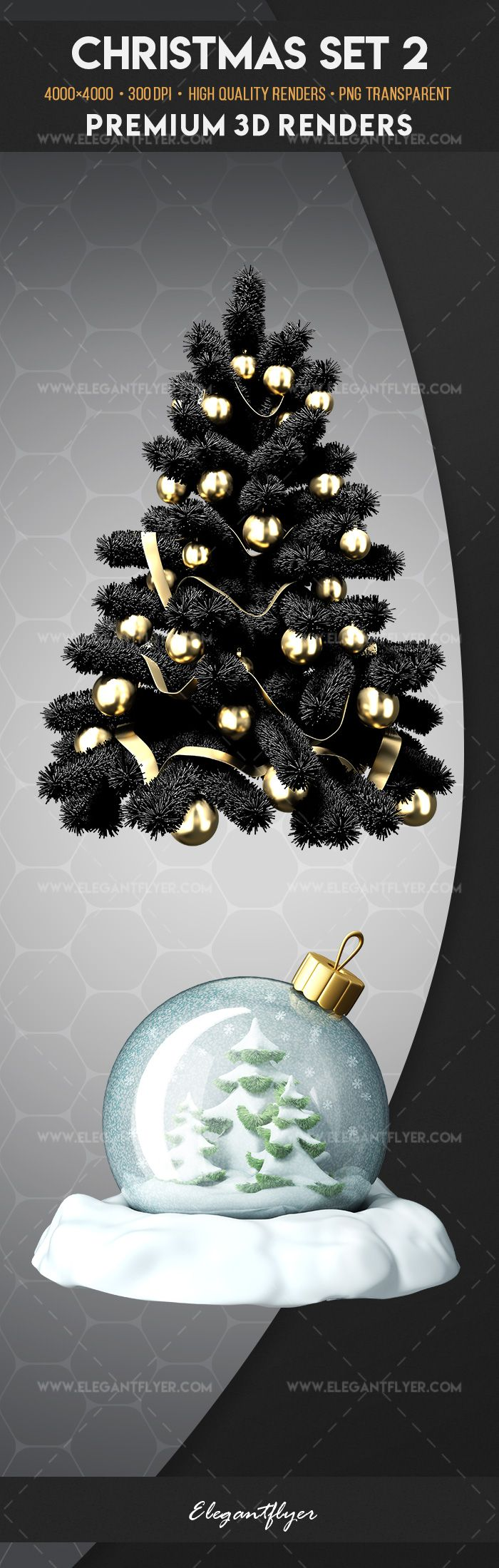 Christmas Set 2 – Premium 3d Render Templates