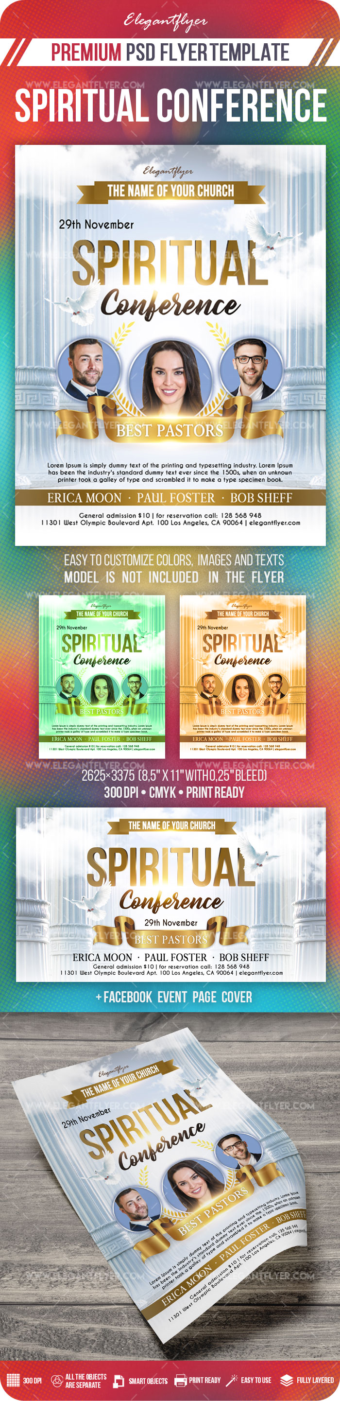 Spiritual Conference – Flyer PSD Template