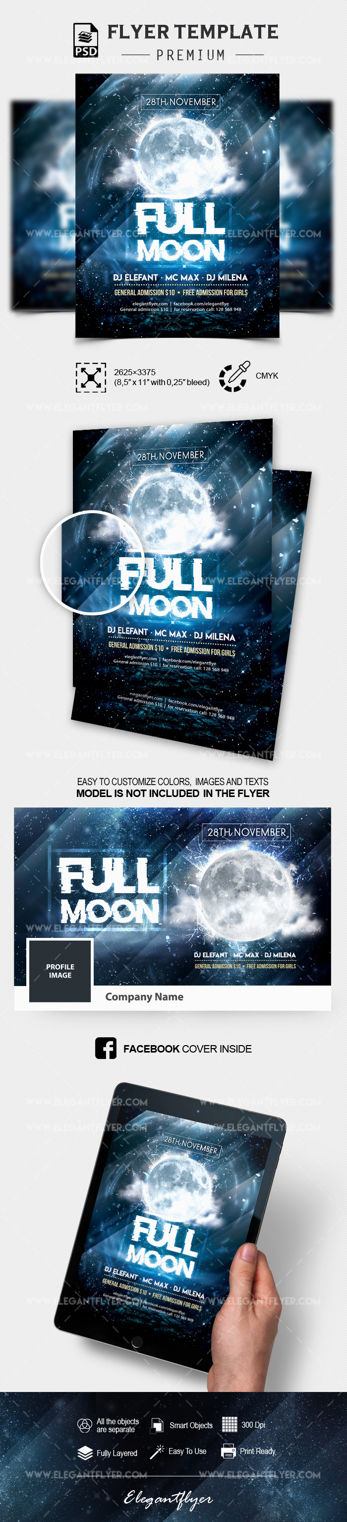 Full Moon Party – PSD Flyer Template