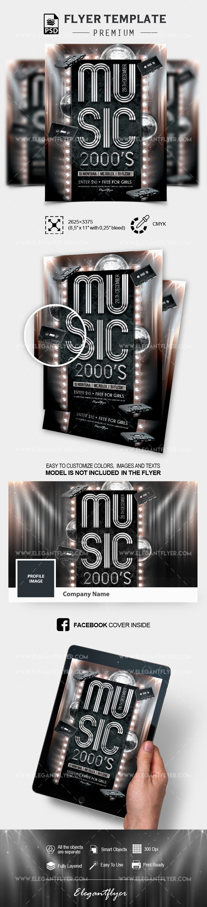 Music 2000s Party – Flyer PSD Template