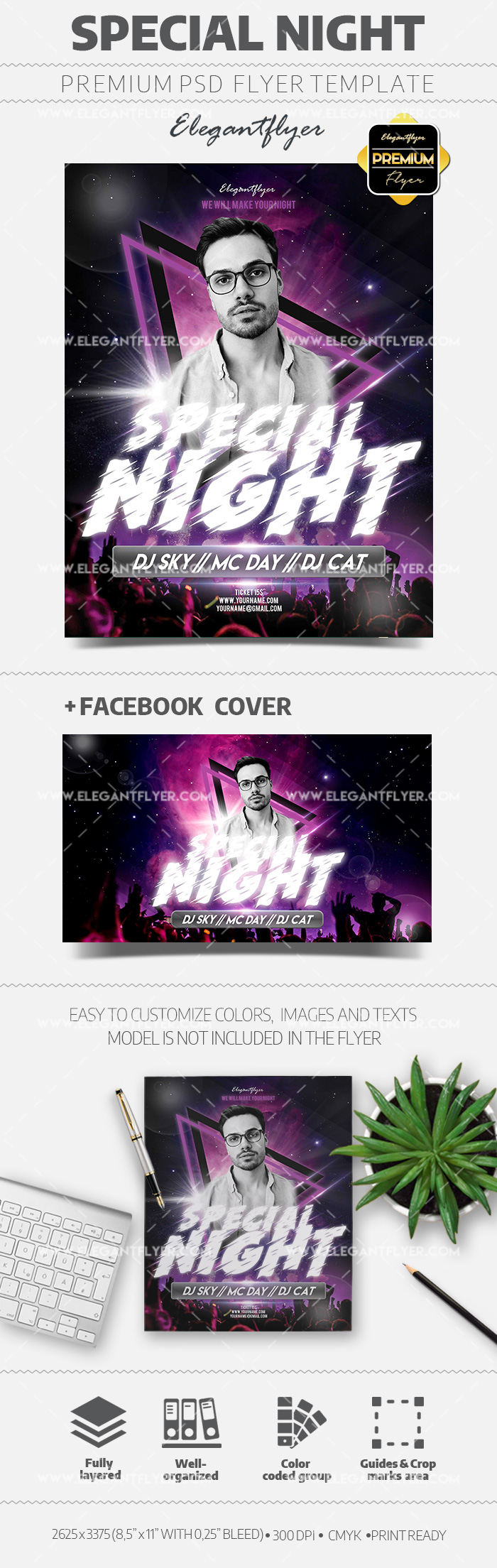 Special Club Night – Flyer Template in PSD