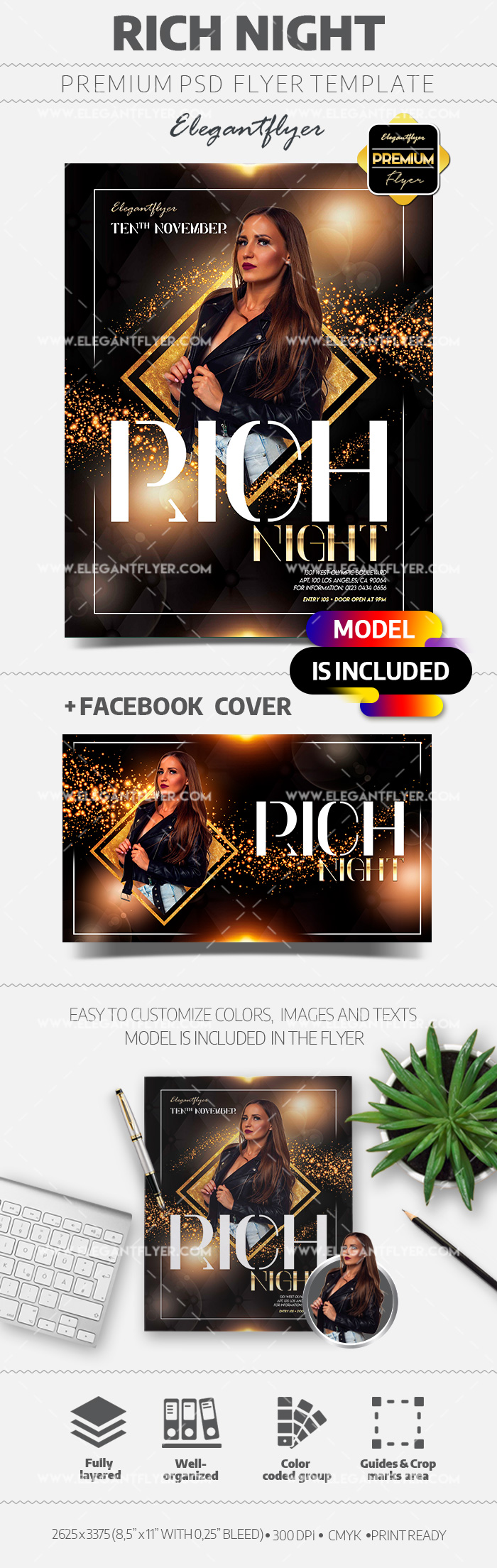 Rich Club Night Party – Flyer PSD Template