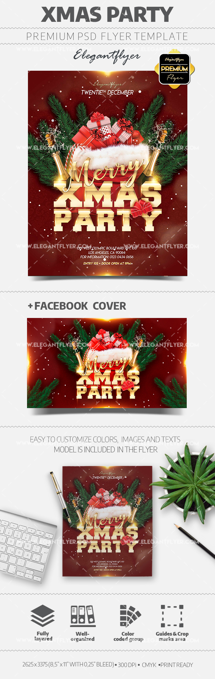 Xmas Club Night Flyer PSD Template
