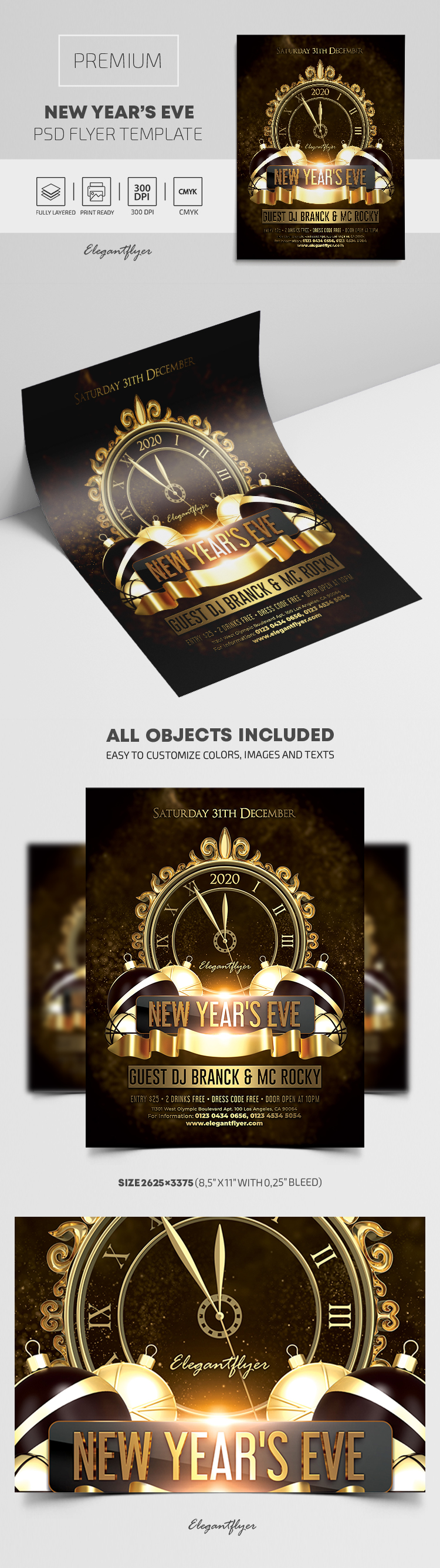 New Year's Eve – Flyer PSD Template