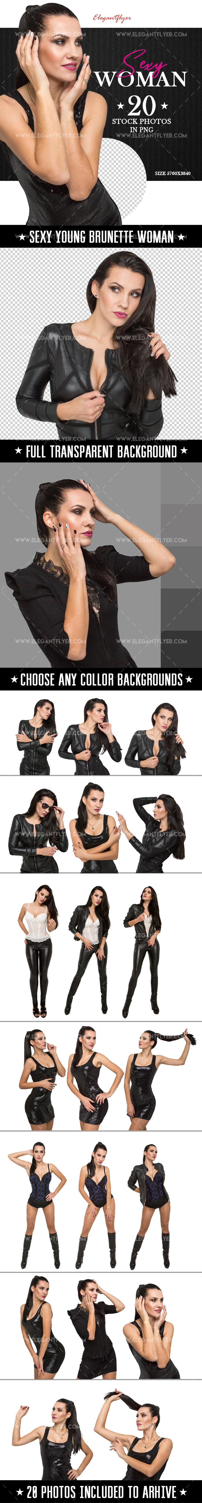 Sexy Brunette Woman Photo Bundle