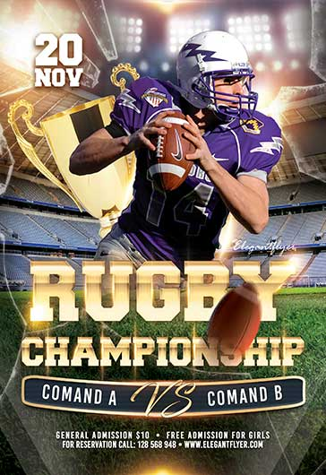 American Football – Flyer PSD Template