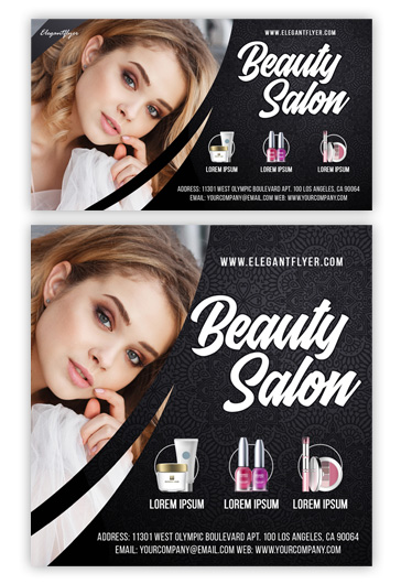 Beauty Salon – Facebook Event + Instagram Template + YouTube Channel Banner