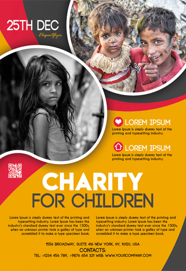 Charity for children – Free Flyer PSD Template
