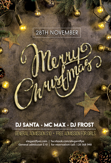 Christmas Party – PSD Flyer Template