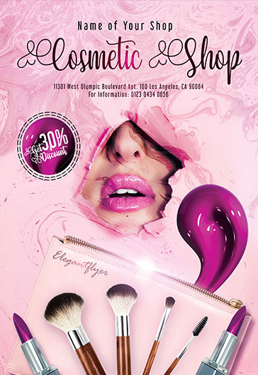 Cosmetic Shop – Flyer PSD Template