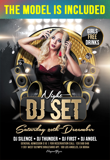 Free DJ Flyer Templates PSD | by ElegantFlyer