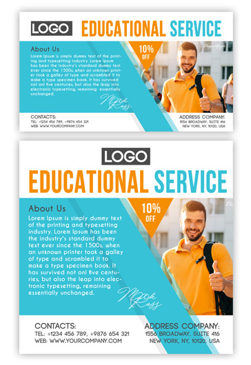 Educational Service – Free Facebook Event + Instagram Template + YouTube Channel Banner