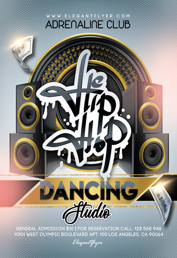 Hip Hop Dancing Studio – Free Flyer PSD Template