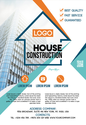 House Construction – PSD Flyer Template