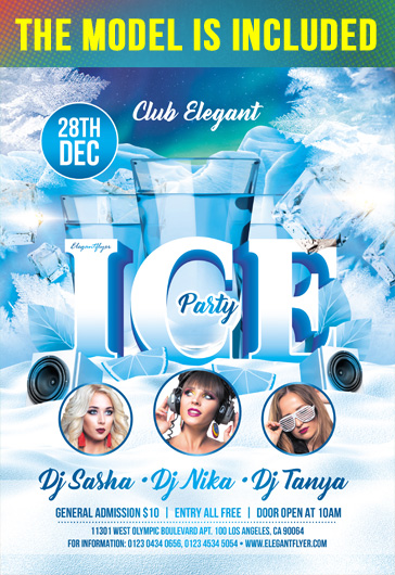 Ice Party – Flyer PSD Template + Instagram template