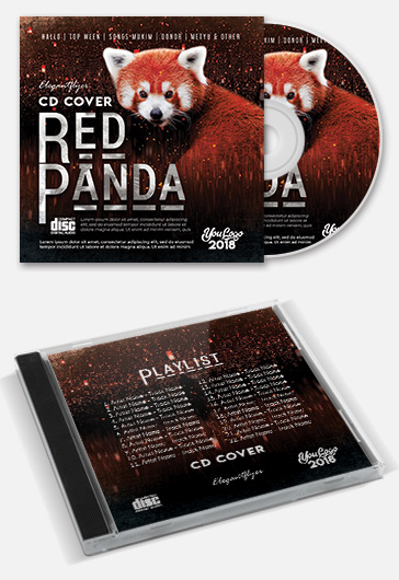 Red Panda – Premium PSD CD Cover Artwork