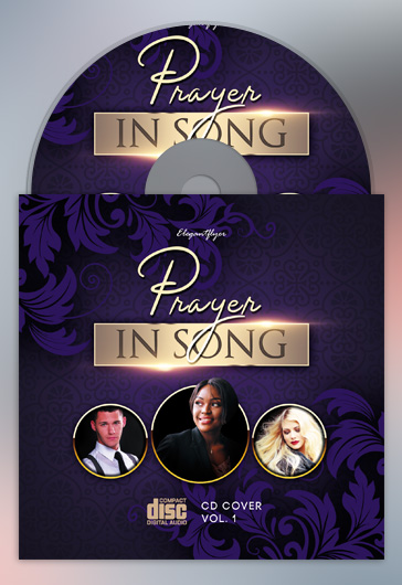 Prayer in Song – Premium CD Cover PSD Template