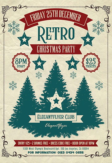 Family Christmas Party – Flyer PSD Template