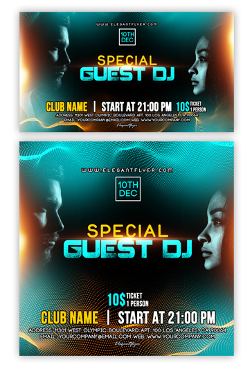 DJ Party – Flyer PSD Template