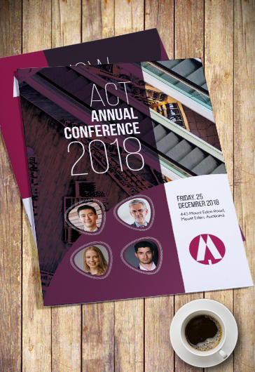 Annual Conference Bi-Fold Brochure PSD Template