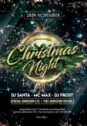 Gala Christmas Night – PSD Flyer Template